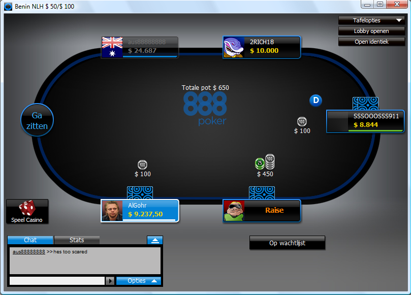Screenshot 888 Poker
