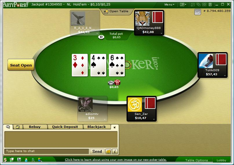 Screenshot Party Poker