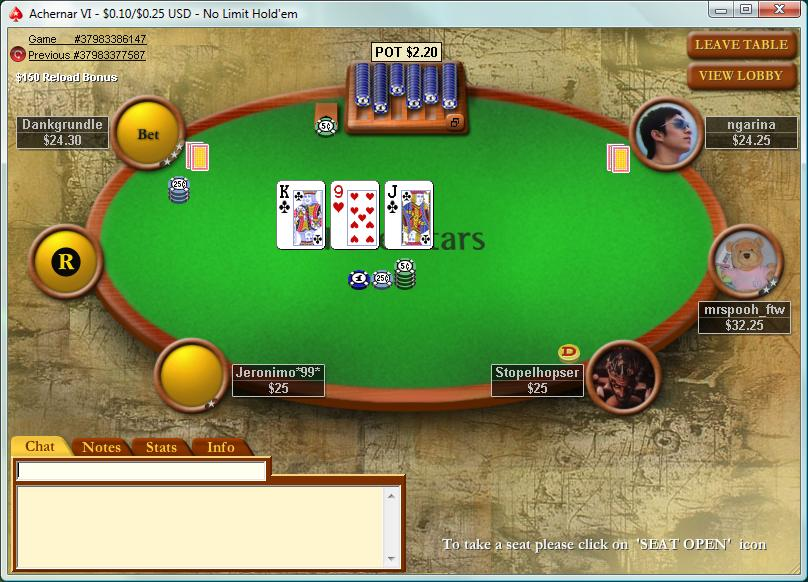 Screenshot Poker Stars Poker